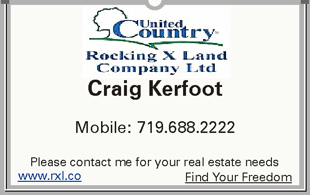 United Country Rocking X Land Company Ltd. Craig Kerfoot