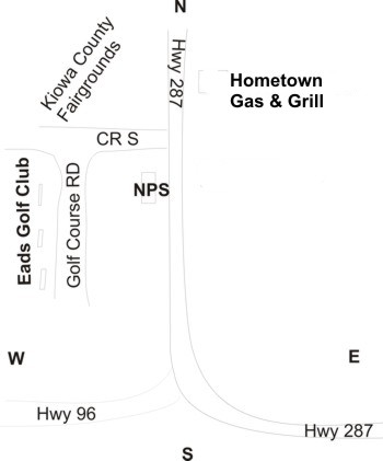 Map to Eads Golf Course